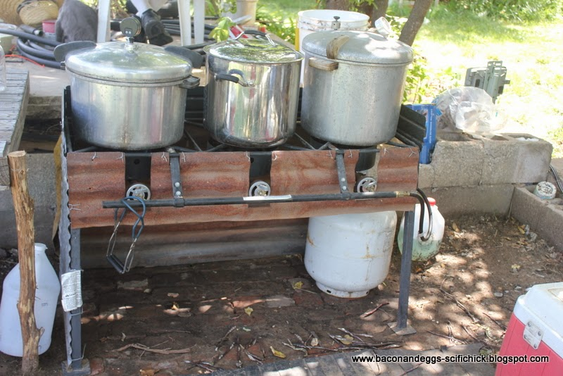 Rustic metal furniture - Bacon And Eggs Outdoor Canning Station