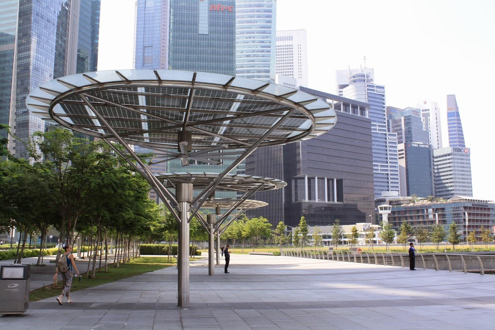 ventiladores en la ciudad de singapur