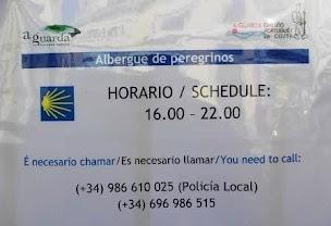 A GUARDA: HORARIO DE ACCESO O ALBERGUE DE PEREGRINOS
