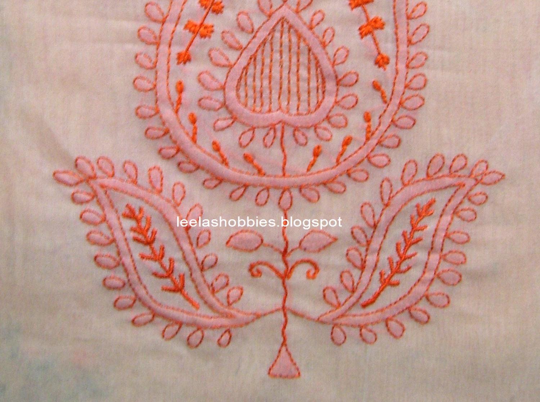 Elegant chikan embroidery stitches makaroka