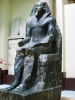 the khafre enthroned an egyptian cubic style sculpture Khafre was the son of king khufu and succeeded the short-lived redjedef,  in the egyptian museum,  egyptian sculpture.