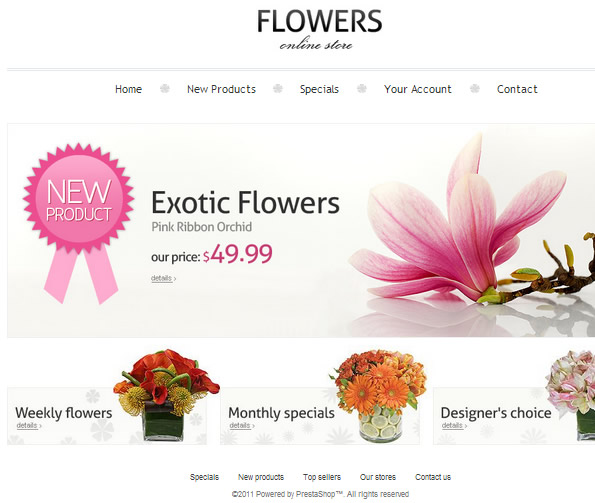 Ecommerce Site Name : Flowers Online Store