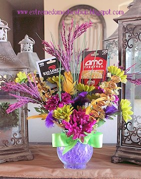 Extreme domestication candy gift bouquet a candy bouquet is a cute way to give candy and gift cards i have seen some really creative and cute ones we chose to use silk flowers and werthers negle Gallery