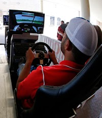 Drivers got their first look at Langley Speedway on iRacing simulators at Hampton University