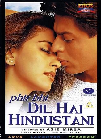 Poster Of Phir Bhi Dil Hai Hindustani 2000 Hindi 450MB DVDRip 480p Free Download Watch Online