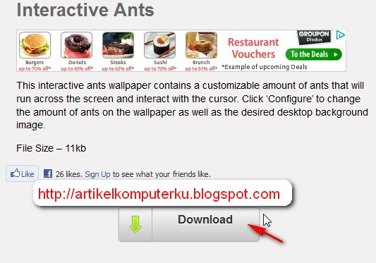 Interactive ants wallpaper