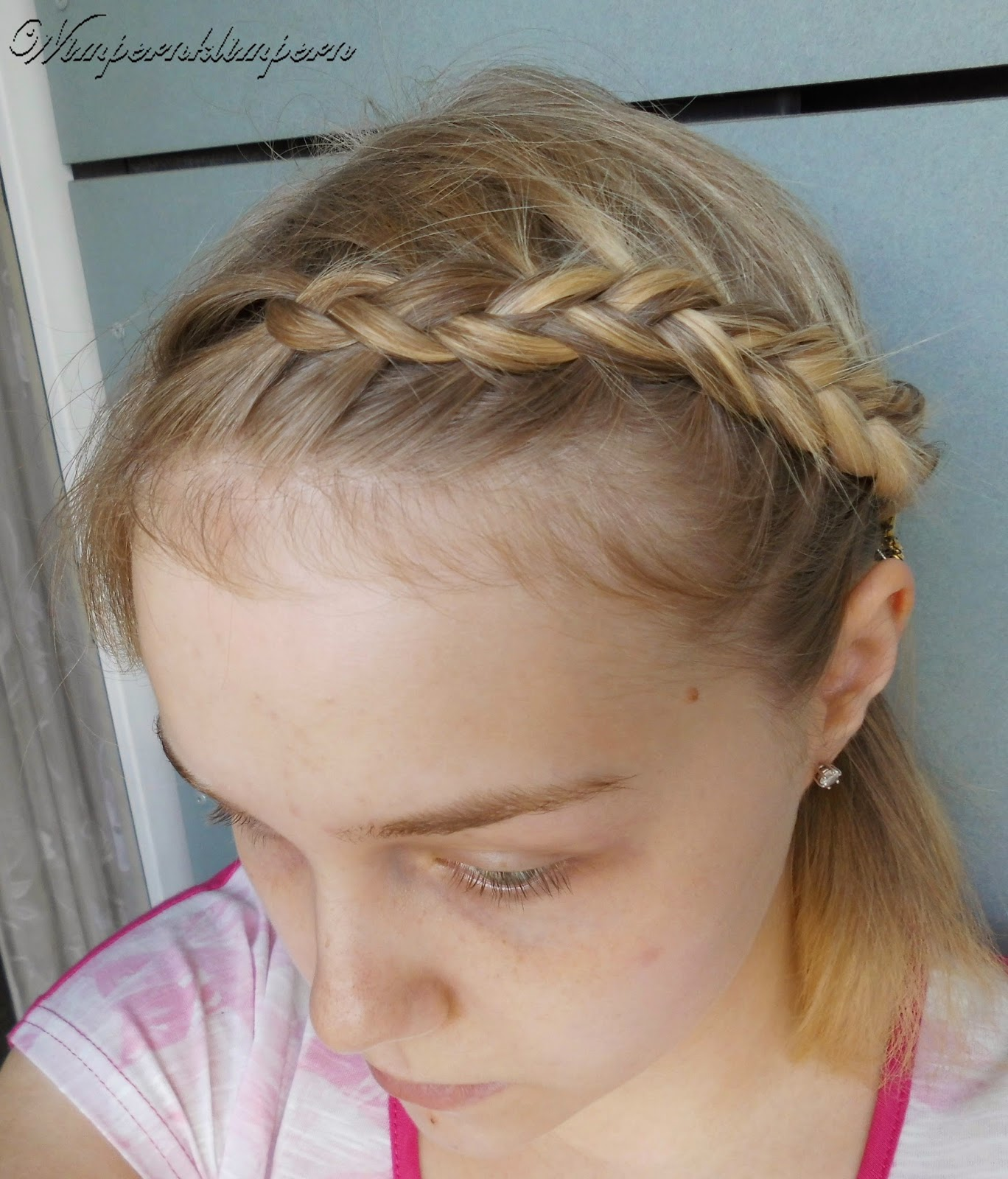 Oktoberfest Flechtfrisuren Dutch Braid vorne