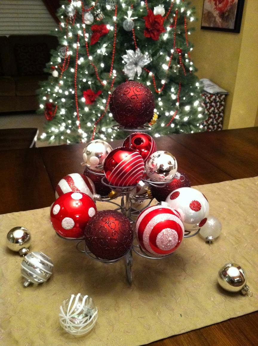 Christmas red balls ornaments pictures ideas 2015 pinterest for Ball decoration ideas