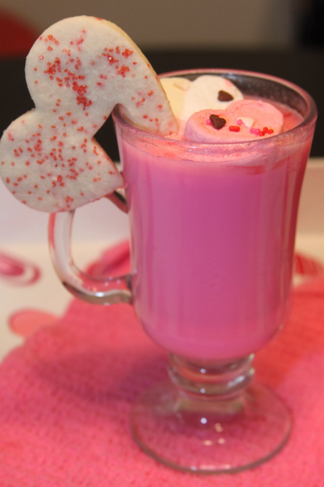 Hot Pink Decked Out Hot Chocolate Recipe | For the Love of Food!