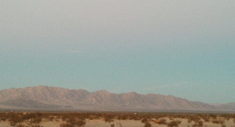 West of the sunrise, Wonder Valley, CA