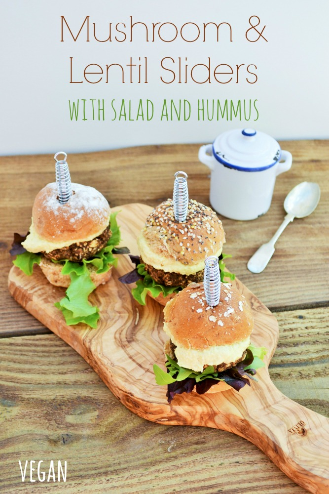 Vegan mushroom and lentil sliders