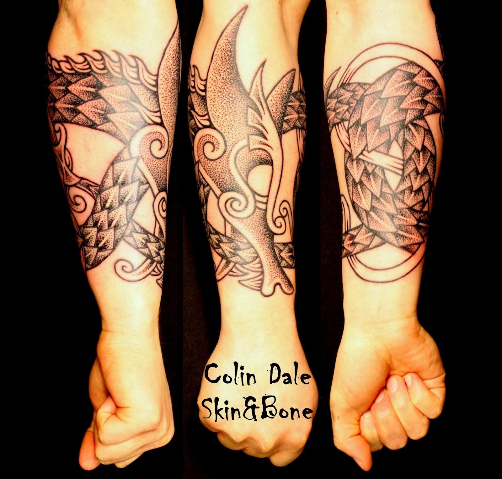 Forearm Tattoo Tree A forearm wrap with a double