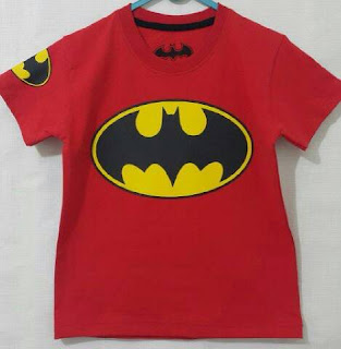 Baju Anak Karakter Batman Merah Size 1 - 6 Y