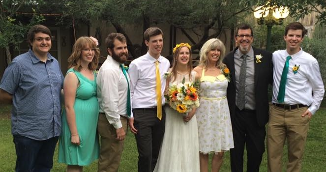 The Fam, Joe & Kami's wedding, 2015