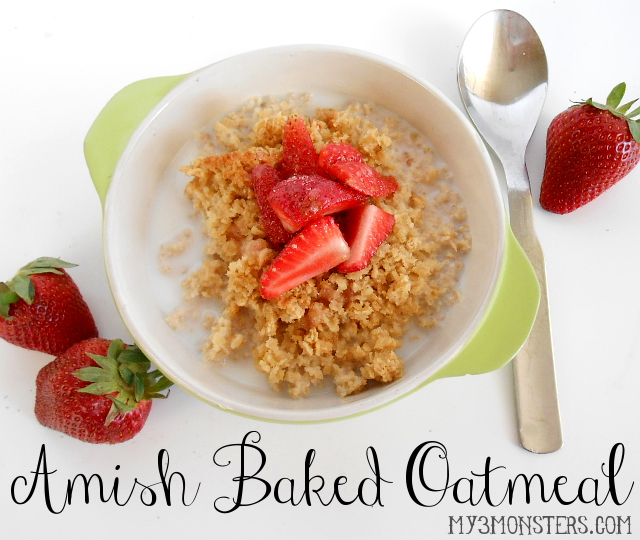 Amish Baked Oatmeal recipe at my3monsters.com