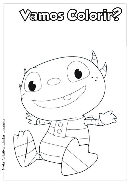 Henry, o monstrinho desenho para colorir