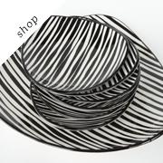 Vintage zebra pattern plates | Coollect
