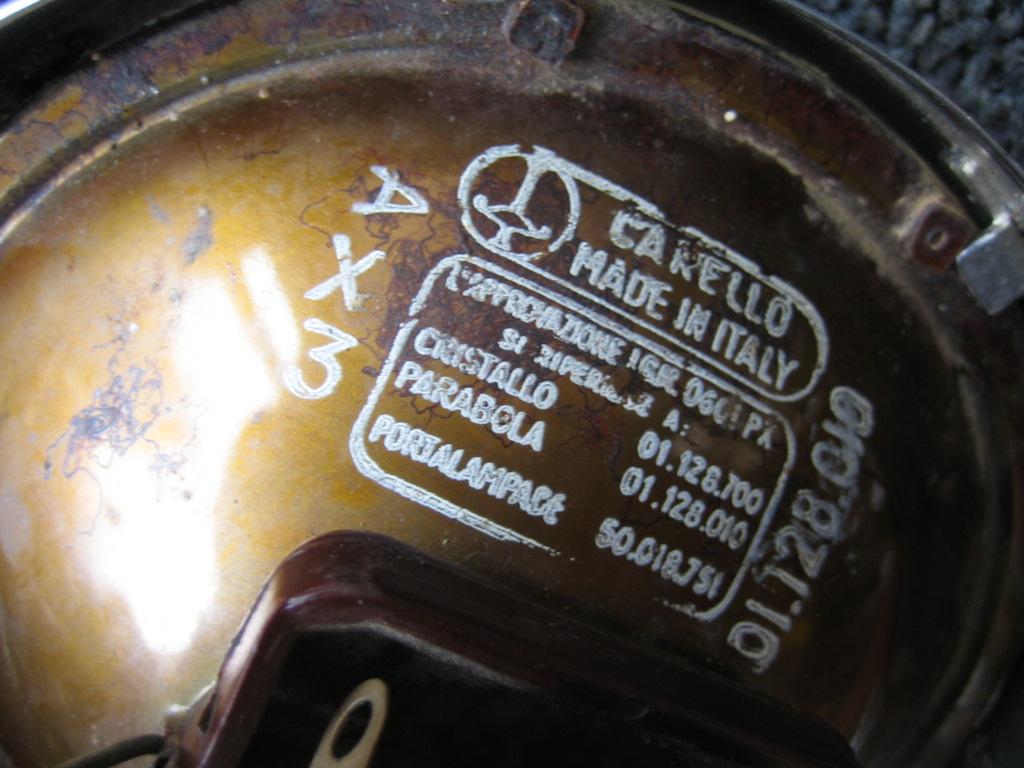 Lambretta Restoration November 2011 Wiring Diagram One New Old Stock Carello Headlight
