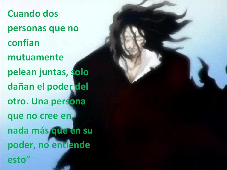 Frases con fotos del anime. Zanguetsu