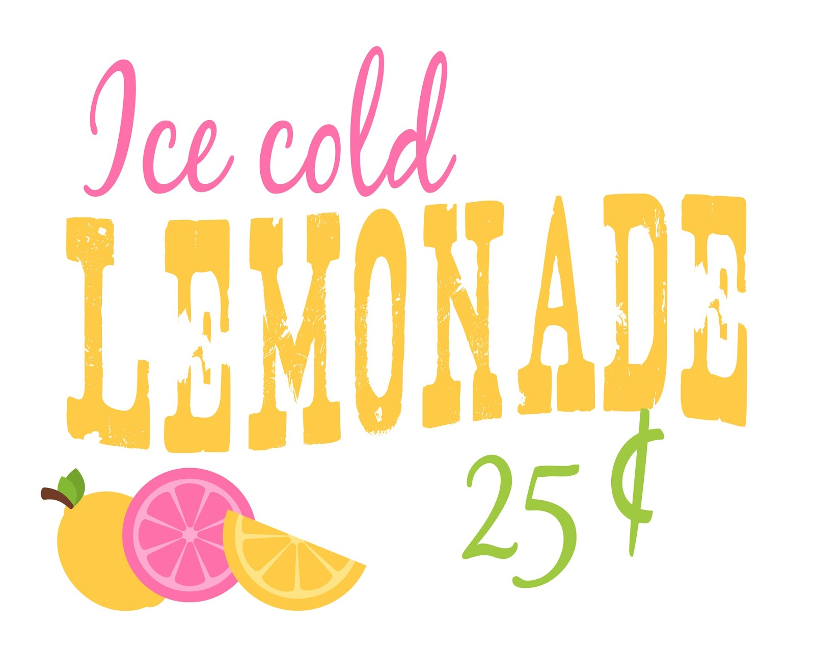 Fan image pertaining to lemonade sign printable