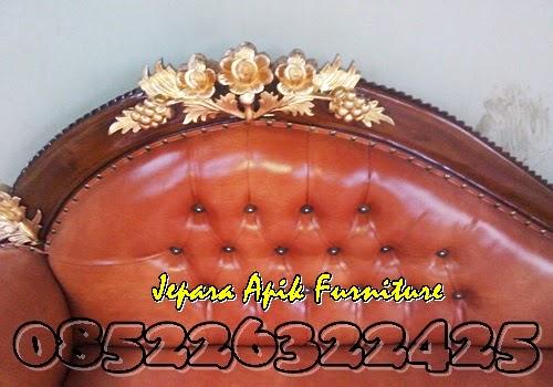 sofa ukiran mawar jati