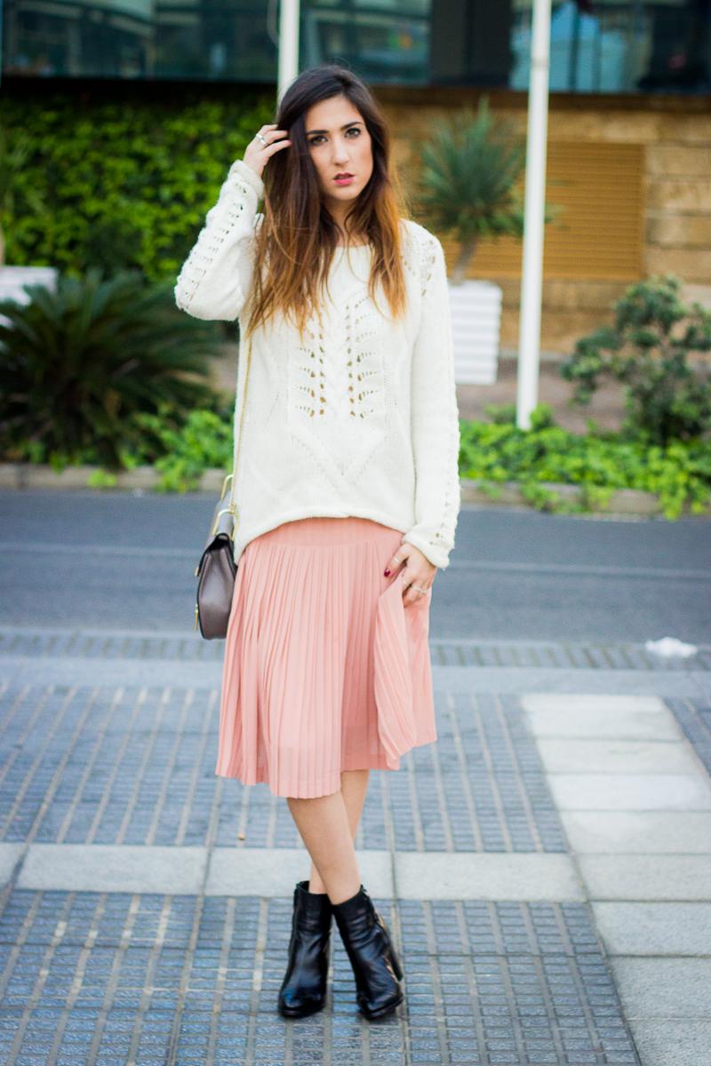pastel midi skirt