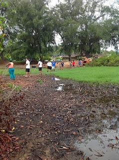 photo of clean-up efforts