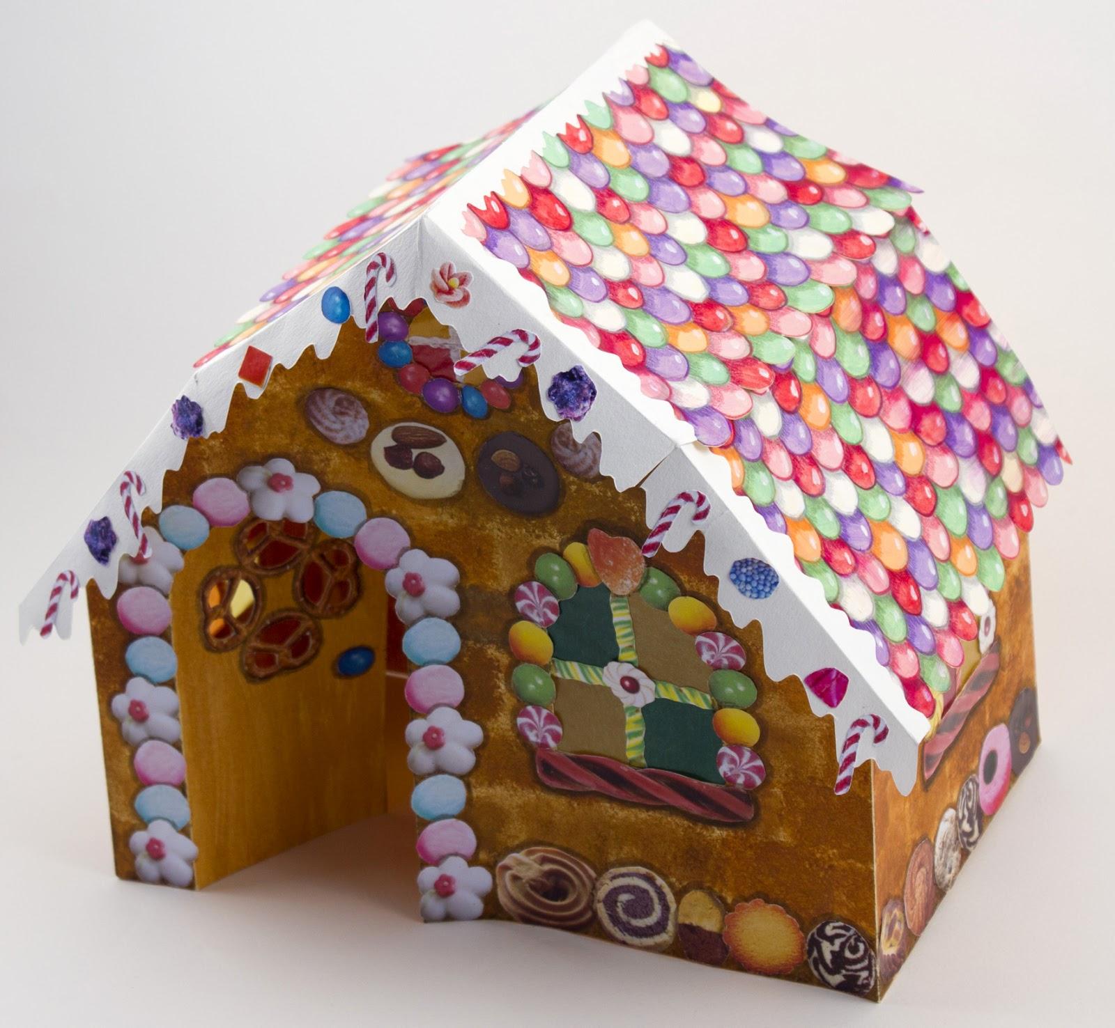 Cr ations kits et r cup 39 d cor pop up pour le conte h nsel et gretel - Maison en biscuit et bonbons ...