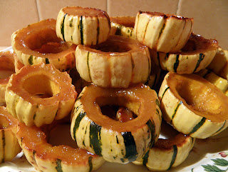 Serving Plate Piled High with Maple Glazed Delicata
