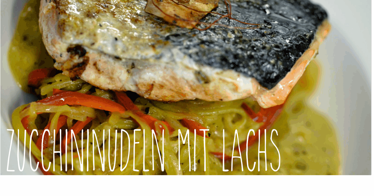 melina 39 s s es leben low carb lachs auf zucchini nudeln mit mangoso e. Black Bedroom Furniture Sets. Home Design Ideas