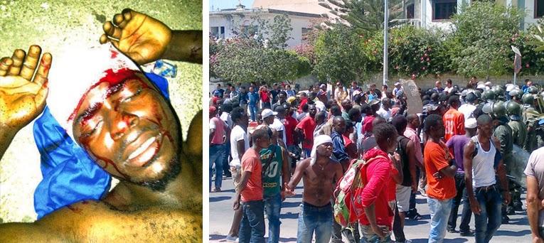 طنجة تتحول إلى ساحة حرب بين مغاربة وأفارقة أدت إلى مقتل شاب سينغالي