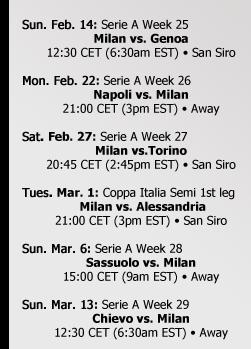 Milan Calendar