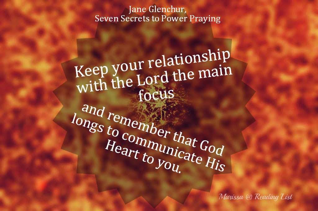 Keep your relationship with the Lord the main focus....  {Reading List}