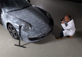 Escanea coches enteros con escáner EVA + equipo fotogrametría
