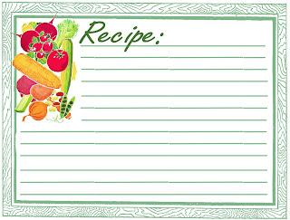 stock recipe card printable