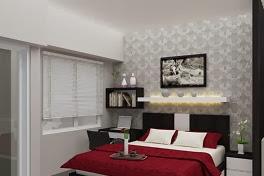 Gambar Interior Desain Kamar Tidur Apartemen yang Mewah, Menarik dan Elegan