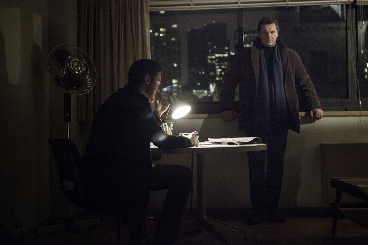 Dan Stevens and Liam Neeson in A Walk Among the Tombstones