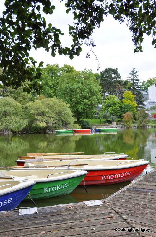 Boats on the lake, Palmengarten Garden, Frankfurt Germany