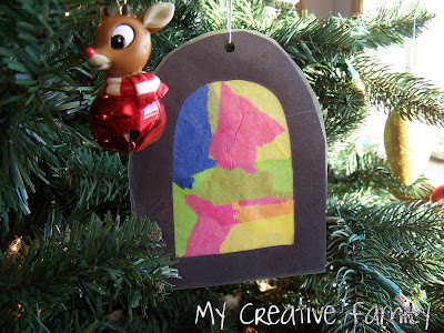 Easy to make stained glass window ornaments