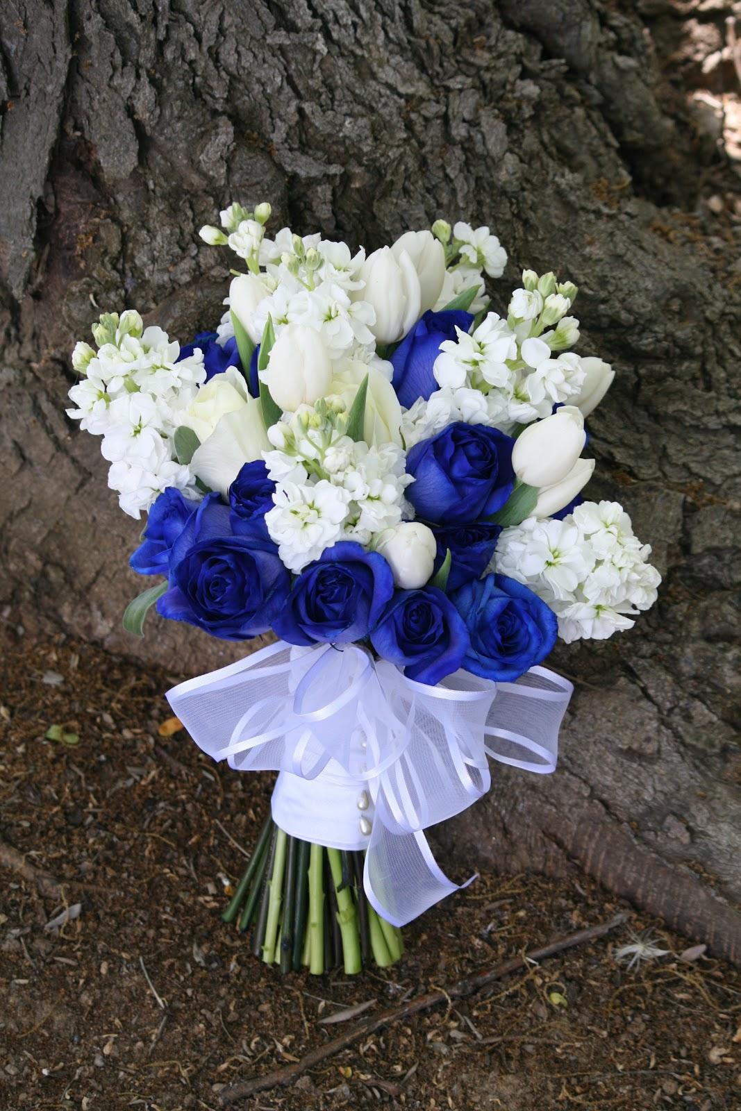 Blue Brown Wedding Bouquets : Gallery for gt cobalt blue wedding bouquet