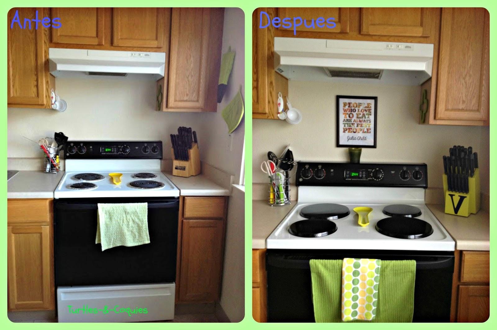Turtles coquies limpieza de primavera cocina - Limpieza azulejos cocina ...