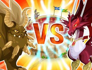 imagen de los combates de dragon city