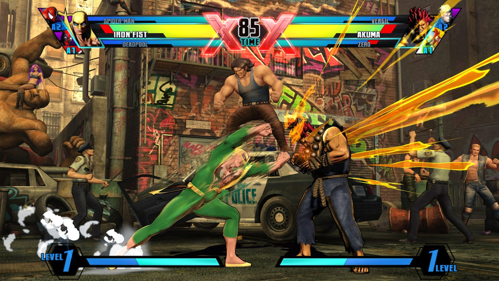 Iron Fist em Ultimate Marvel vs Capcom 3