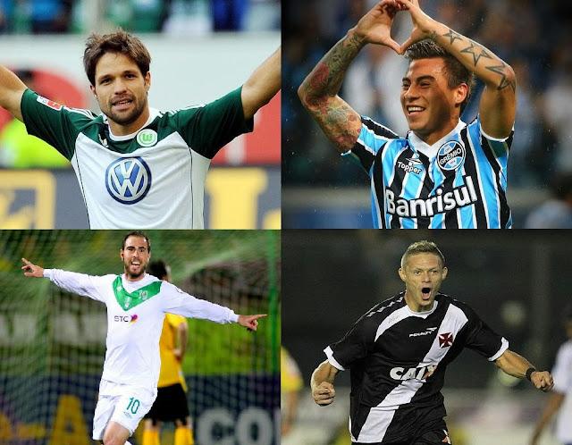 Diego, Vargas, Marlone e Bruno César