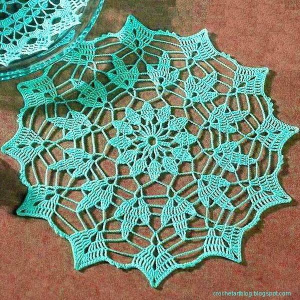 Free Crochet Pattern Easy Doily : La Magia del Crochet: CARPETAS A CROCHET