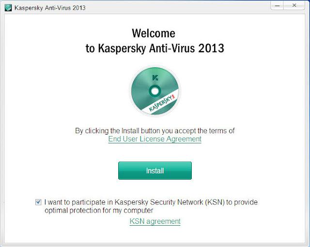Kaspersky Antivirus 2013 - Install