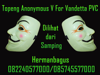 Jual Topeng Anonymous V For Vandetta PVC Warna Krem