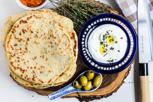 Grčki pita hleb / Greek Pita Bread ~ Magična Oklagija