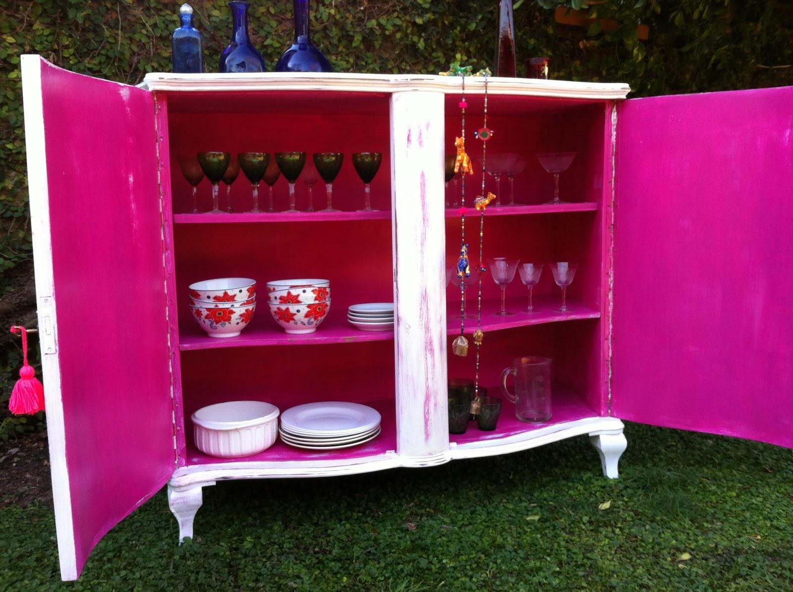 Muebles Restaurados En Blanco Great Comedor Blanco De Estilo  # Muebles Vajilleros Antiguos