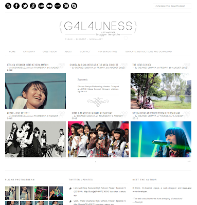 Galauness, a minimalist clean blogger template